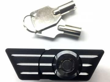 Locking Glovebox Latch Black w/ Silver