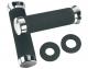 Roadhawk Black Foam Grips w/Chrome End Cap