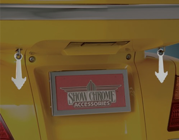 Chrome Arrow Head Helmet Hangers