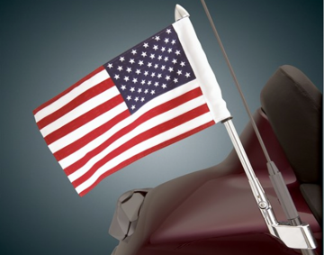 Fold Down Antenna Mount Flag Pole w/Flag for Gold Wing