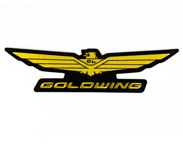 Embroidered Gold Wing Logo Patch