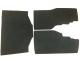 Saddlebag & Trunk Black Felt Mat Set for GL1500