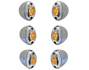 LED 6-Light Fork Light Kit Amber