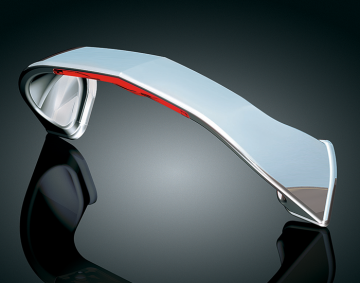 Red LED w/Clear Lense Chrome Trunk Handle