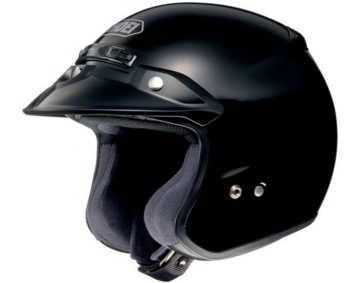 RJ Platinum R Open Face Helmet Solid Black