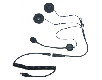5 Pin Stereo Headset for Open Face/Modular Helmet w/ Boom