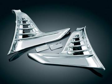 Trike Chrome Louvered Scuff Side Covers for GL1800