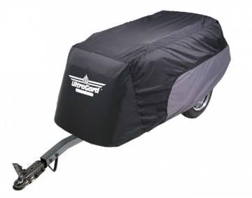 Black/Grey Motorcycle Trailer Cover
