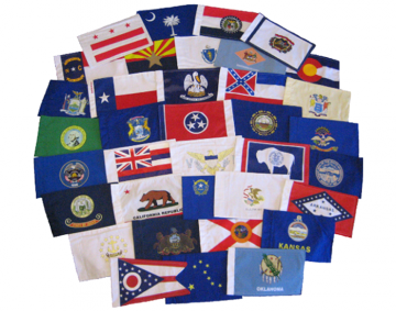 "US State & Territory 6"" x 9"" Flags"
