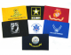 """U.S. Military Branches 6"""" x 9"""" Flags"""