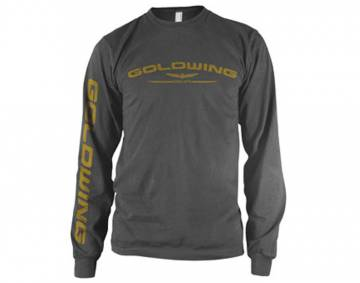 Mens Goldwing Shirt Long Sleeve Charcoal
