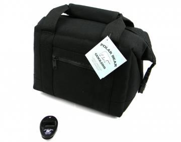 Black 6 Pack Cooler Bag