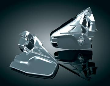 Louvered Chrome Transmission Side Cover for GL1800