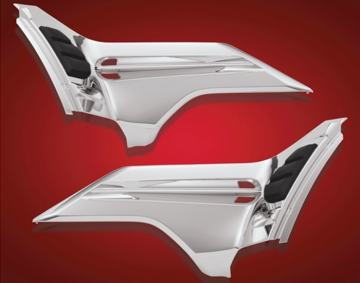 Chrome Battery Side Covers for GL1800 2nd Gen, F6B