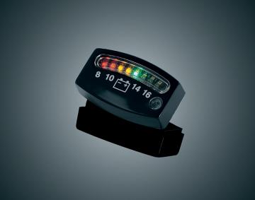 Universal Black LED Battery Gauge