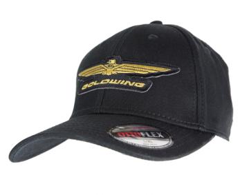 Goldwing Logo Flex Fit Hat Black w/Gold
