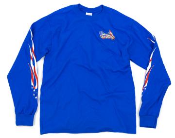 Classic WingStuff Long Sleeve Riding Shirt Blue