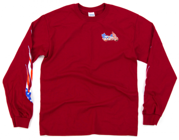 Classic WingStuff Long Sleeve Riding Shirt Red