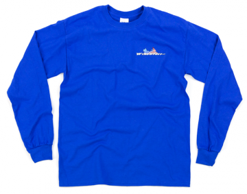 Modern WingStuff Long Sleeve Riding Shirt Blue