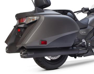 Comp-S Dual Ceramic Black & Carbon Fiber Exhaust for F6B & GL1800 2nd Gen