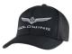 2018 Gold Wing Logo Flex Fit Hat Black w/Silver