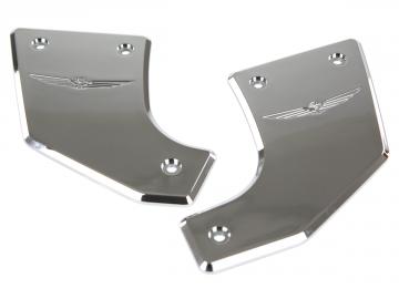Chrome Frame Pivot Covers w/Gold Wing Logo