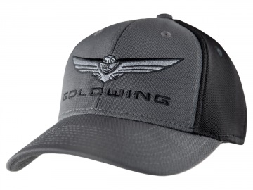 2018 Gold Wing Logo Mesh Fitted Hat Grey/Black