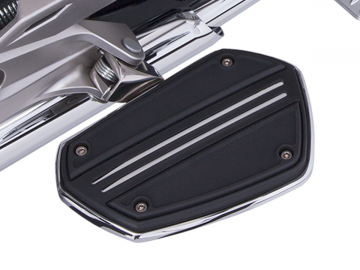 Twin Rail Floorboards w/ Optional Chrome Driver Adapters